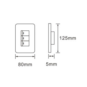 Luxury Series: 4X2 3 Lever Wall Switch