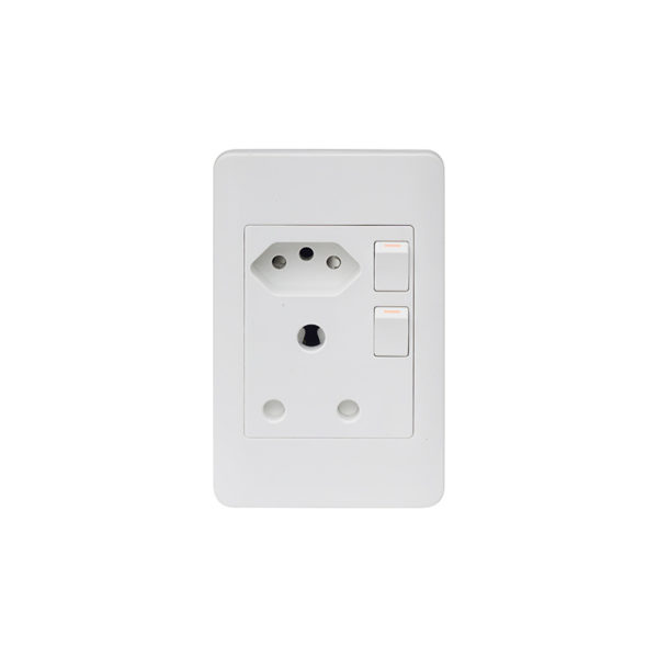 Saver Series: 4X2 Double Wall Switched Socket 1X16A + New 1X16A