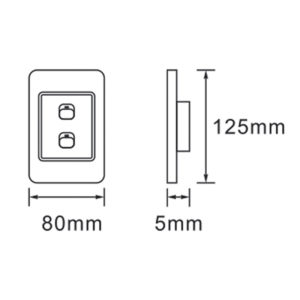 Saver Series: 2 Lever Wall Switch