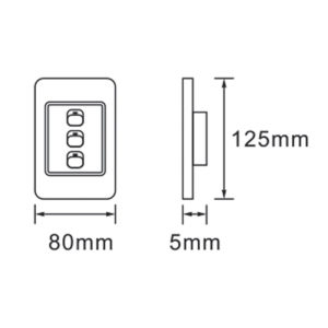 Saver Series: 3 Lever Wall Switch