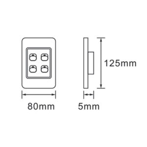 Saver Series: 4 Lever Wall Switch