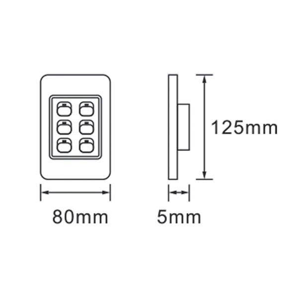 Saver Series: 6 Lever Wall Switch