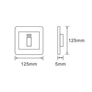 Saver Series: 4X4 Isolator 60A Illuminated switch