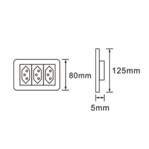 Saver Series: 4X2 Modular New 3X16A Socket